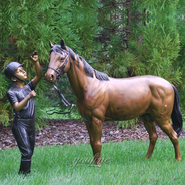 yard art racehorse statues for home China