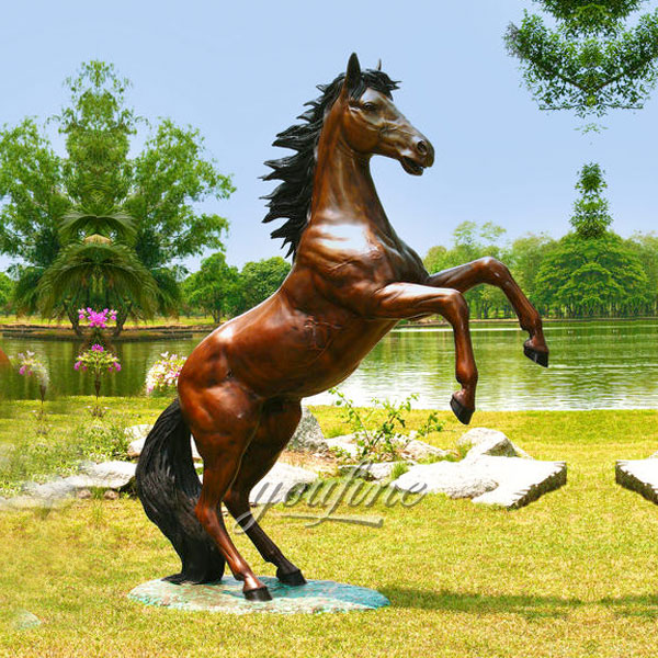 bronze horse statue with jockey impetuous horse sculptures factory