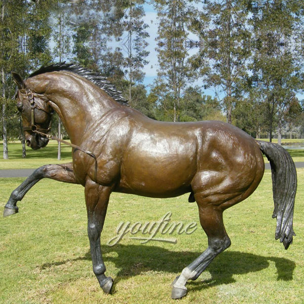 life size bronze indian chief on horse large horse statue