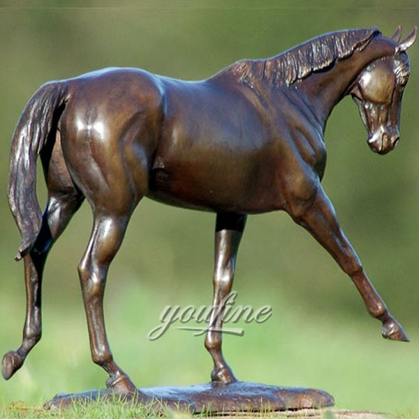 antique bronze horse racing art replica school mascots