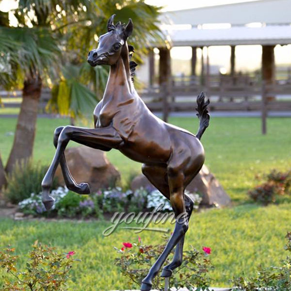 2017 Popular Design Antique Jumping Bronze Horse rearing statues for outdoor