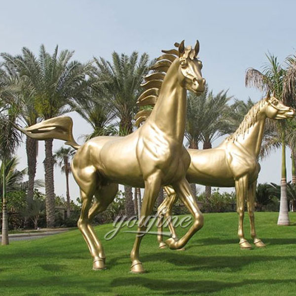 2017 hot sale home decor metal bronze race horse for sale