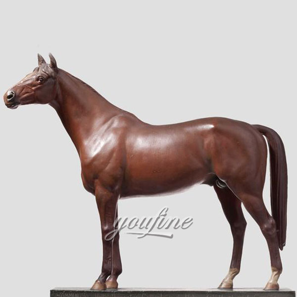 2017 hot sale modern home decoration bronze standing horse statues for sale