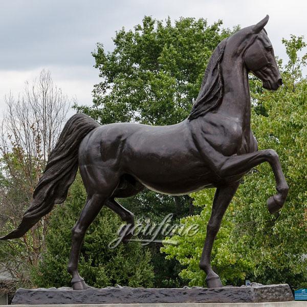 Art decor large metal bronze standing horse sculptures for sale