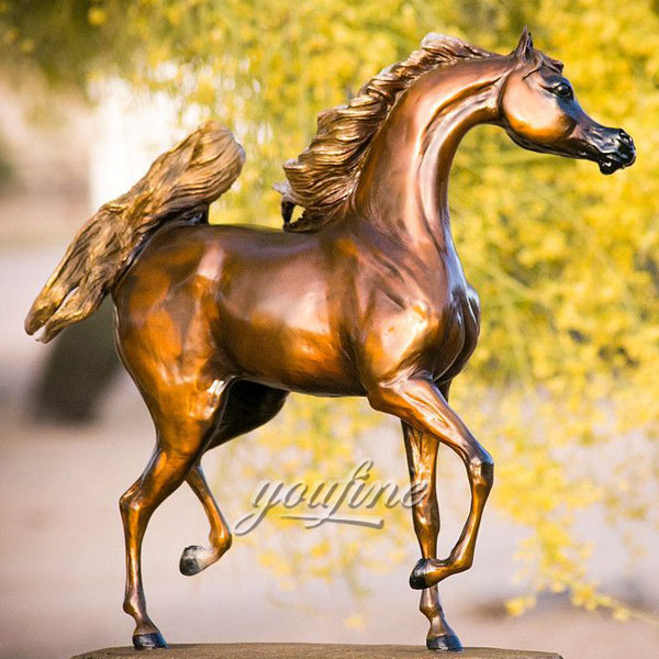 Beautiful Classic gold bronze horse statues for outdoor