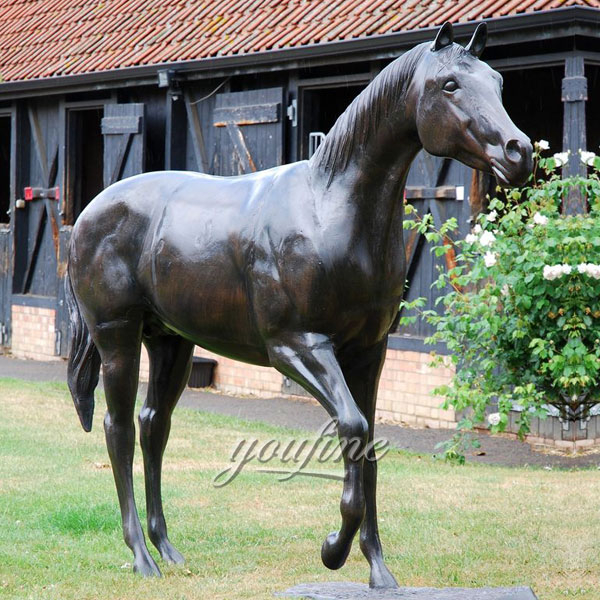 Bronze home decor life size horse bronze horse sculpture  for outdoor