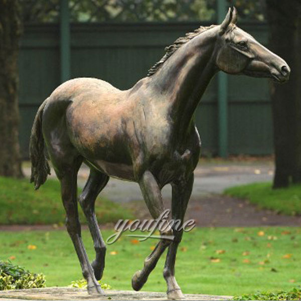 China supplier life size bronze horse race statue for sale