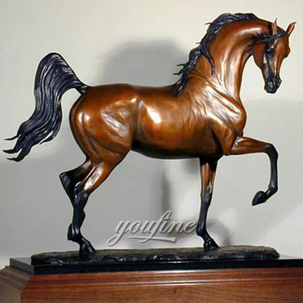 China suppliers standing metal bronze horse figurines for home decor