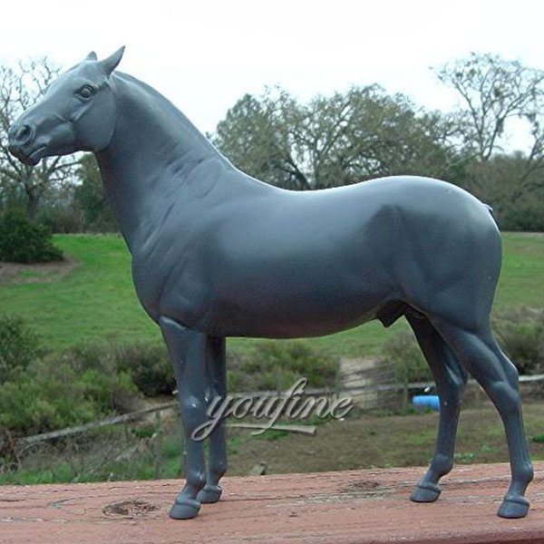 Classic Designs antique bronze fat standing horse statues for outdoor