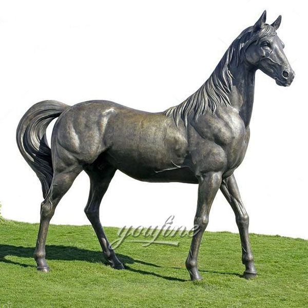 Factory Supply metal craft bronze horse standing statues for outdoor