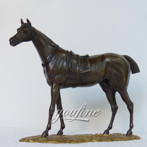 Factory wholesale metal animal bronze horse figurine for indoor decoration