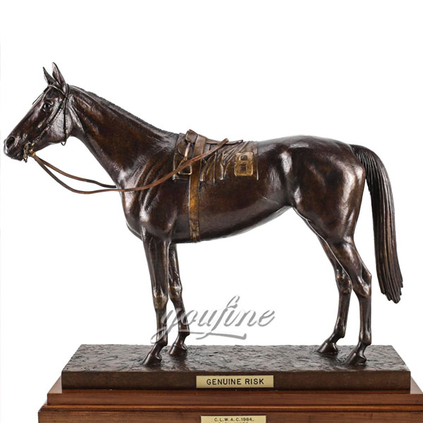 High Workmanship garden antique bronze horse figurines for sale new design