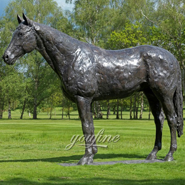 High quality outdoor garden large size antique bronze horse standing sculptures for sale