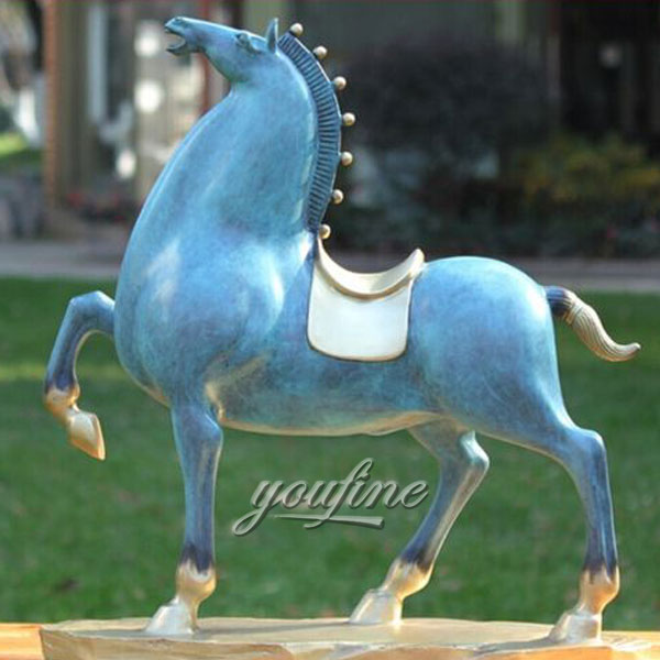 Home Decor Life Size Antique Bronze Horse Sculptures standing for sale