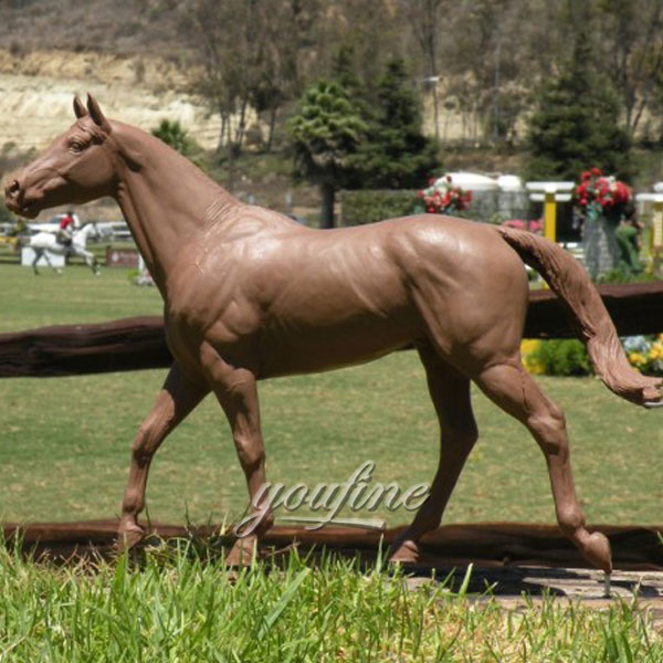 Hot Sale Life Size Standing bronze horse garden statue artist design for sale