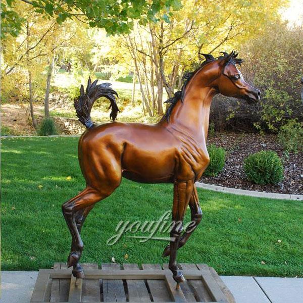 Hot Sale outdoor large bronze horse standing sculptures