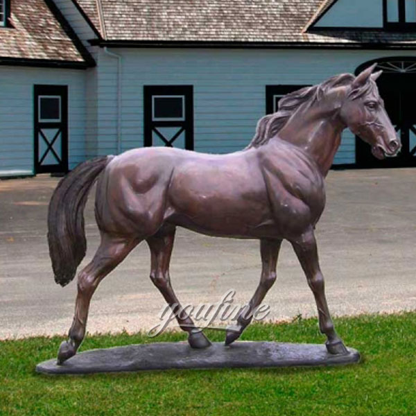 Hot sale garden decoration large metal bronze horse standing for sale