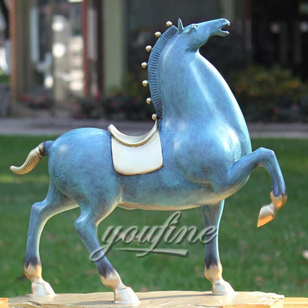 Hot sale indoor desktop decorative cast life size bronze horse figurine