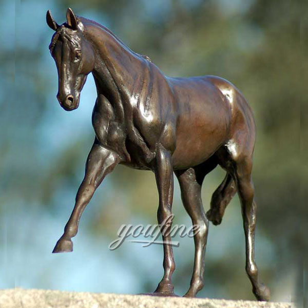Hot selling statue of bronze prancing garden horses for sale