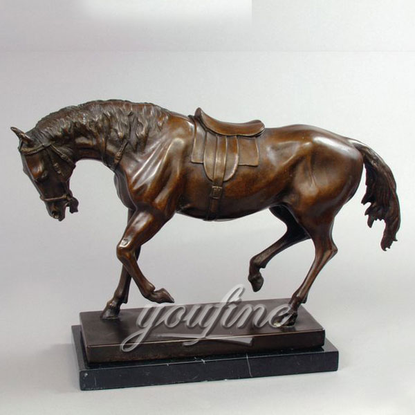 Indoor Antique bronze horse figurines for home decoration