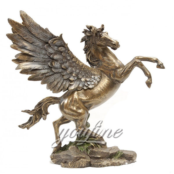 Indoor Bronze Pegasus for home decor