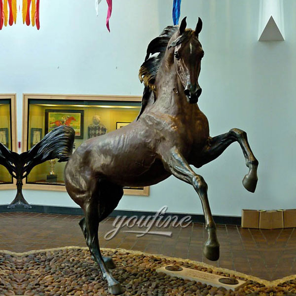 Jumping large life size bronze sculptures for home decor
