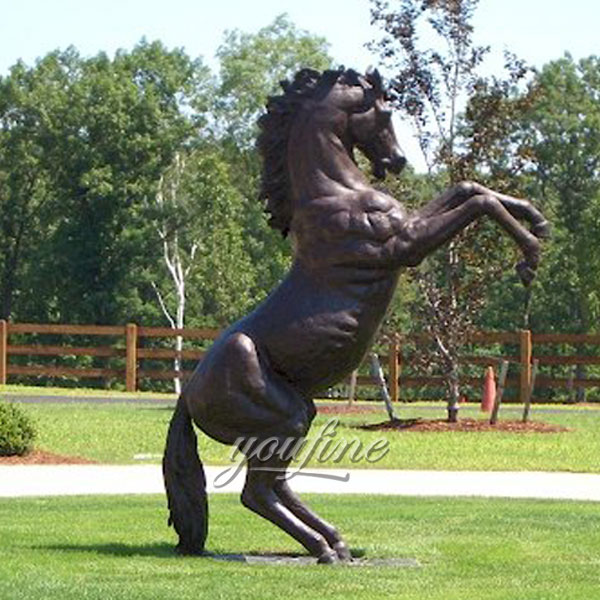 Large Bronze Jumping Horse Statues outdoor For Sale