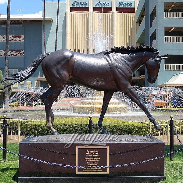 Large outdoor sculptures cast bronze horse statues for sale