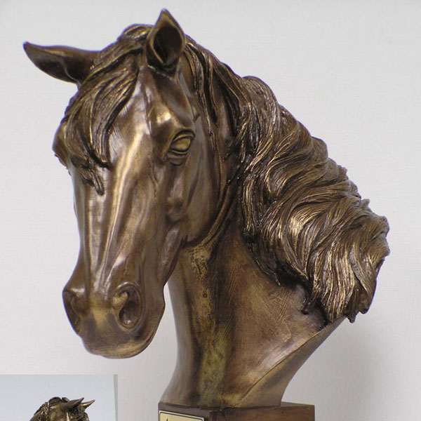 Life Size Cast Metal Bronze Horse Head for sale