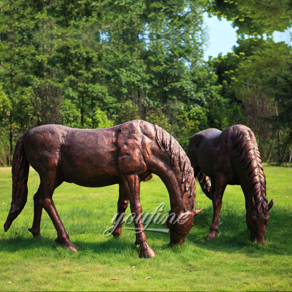 Life size antique bronze horse garden statues for sale