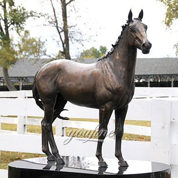 Modern Decoration bronze standing horses for house decor sculpture