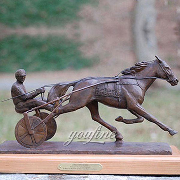 New design metal art chariot figurinies artists for sale
