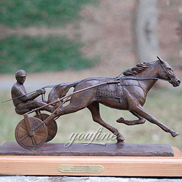 New design metal art chariot figurinies artists for sale