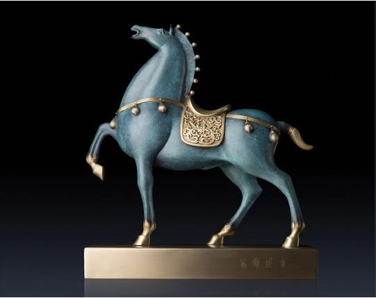 Outdoor art decor antique bronze horse figurines for sale