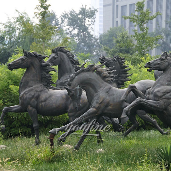 Outdoor grand large racing horse statues for sale