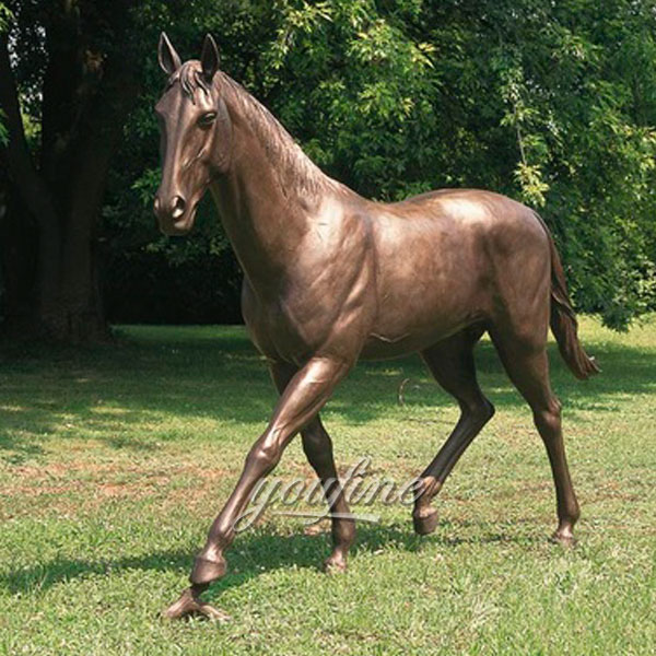 Standing bronze horse sculptures for home decor