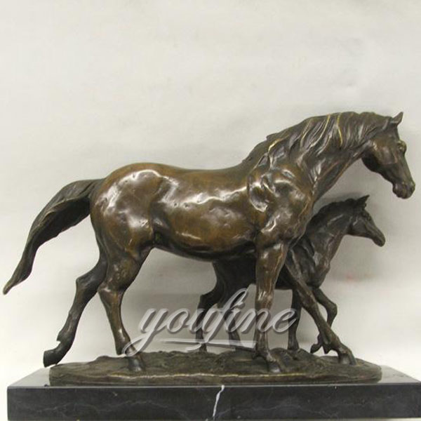 Life size antique bronze figurinies horse statues for sale
