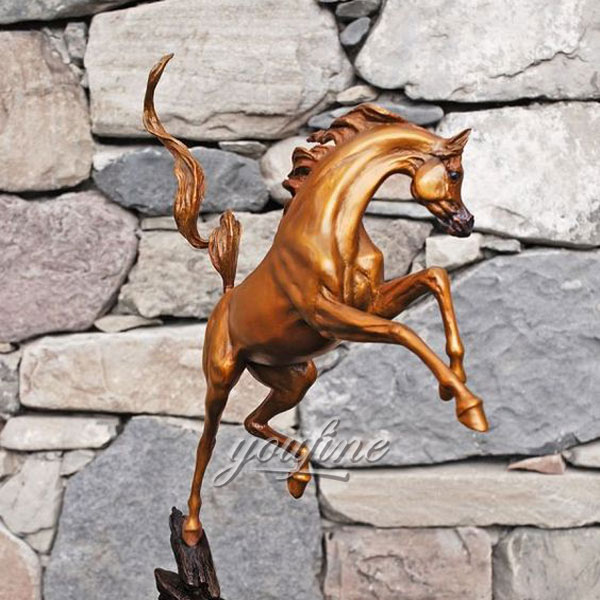life size bronze horse metal garden ornaments for sale