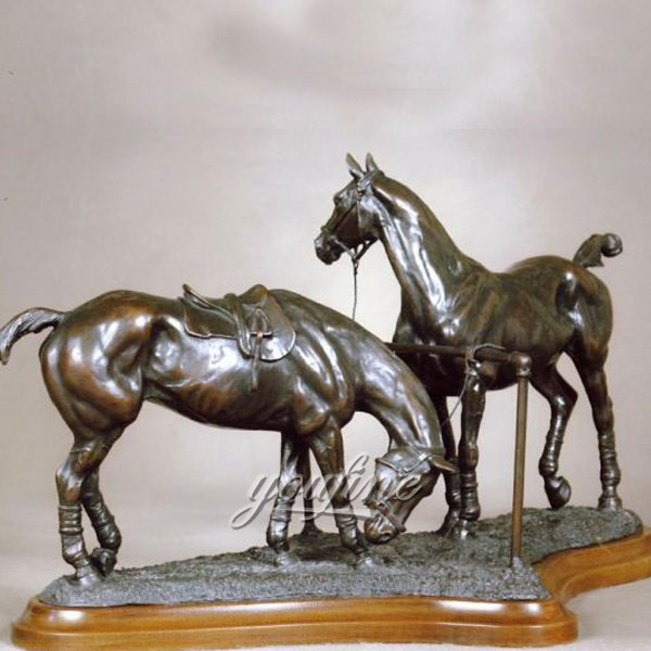life size bronze horse sculptures on pairs artists for sale