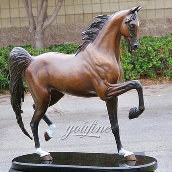 Outdoor decoration life size antique bronze horse sculpture garden ornaments