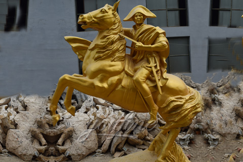 Napoleon riding horse statue for French customer