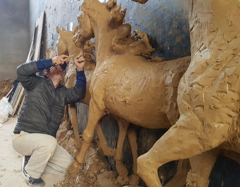 bronze casting for horsestatue