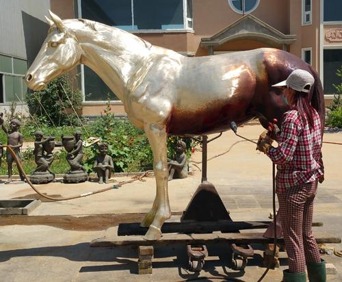 bronze horse statue for outdoor