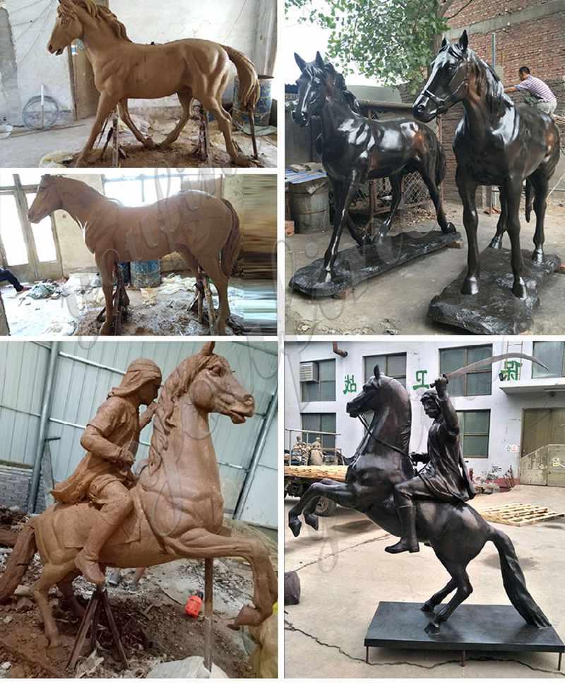 Bronze Horse Ornaments Statue for Garden Design