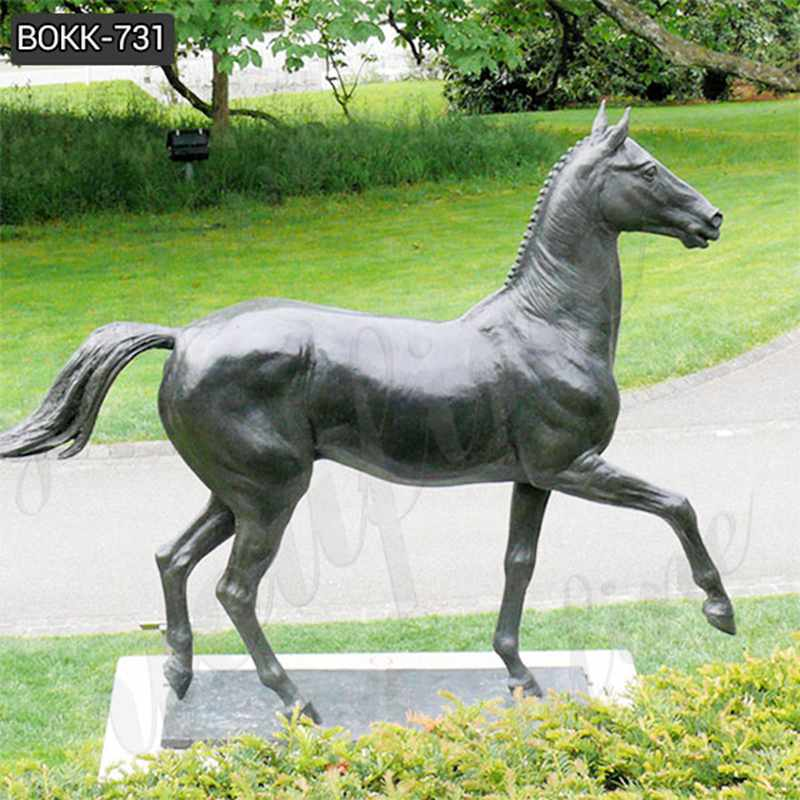 Hot Selling Outdoor Bronze Horse Figurines Statues for Sale BOKK-731