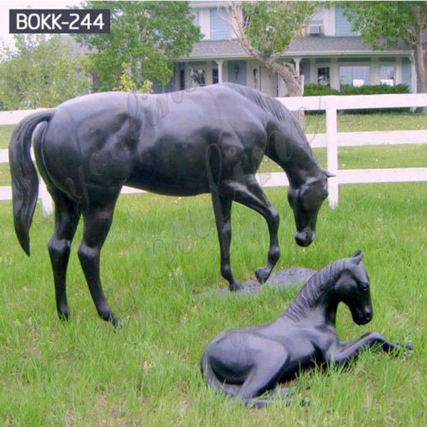 Life Size Garden Antique Bronze Horse Statues for Sale