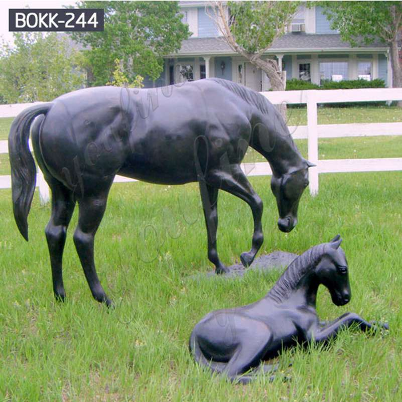 Life Size Garden Antique Bronze Horse Statues for Sale BOKK-244