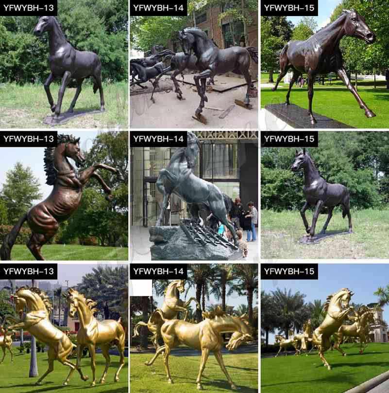 New Outdoor Bronze Horse Ornaments Statue for Garden Design