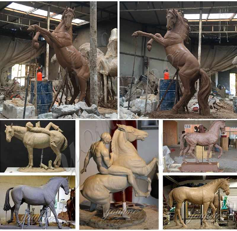 clay model of Outdoor Bronze Horse Figurines Statues