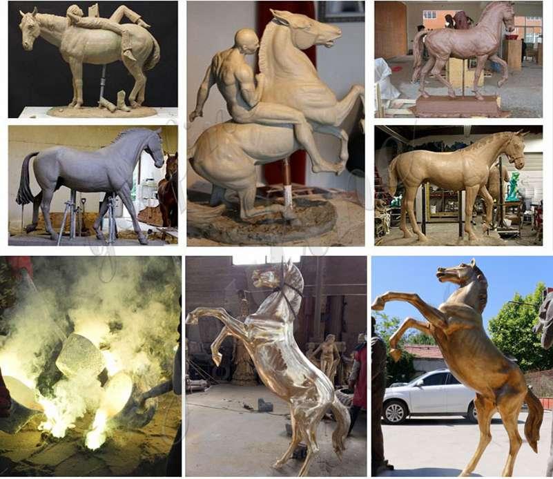 hot cast bronze horse sculpture